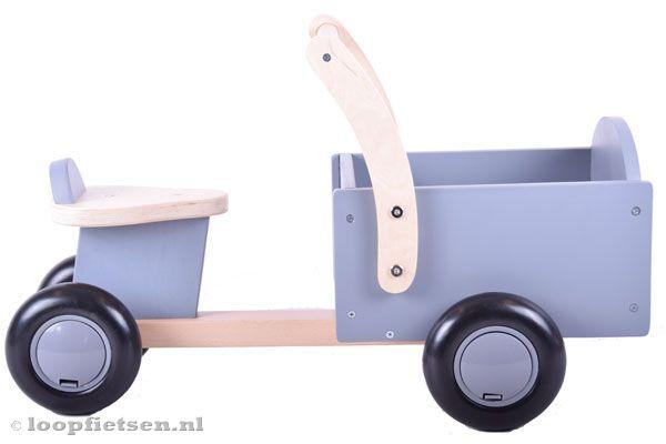 Houten bakfiets little rider grey
