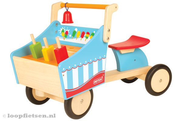 Woodtoys - IJskar bakfiets