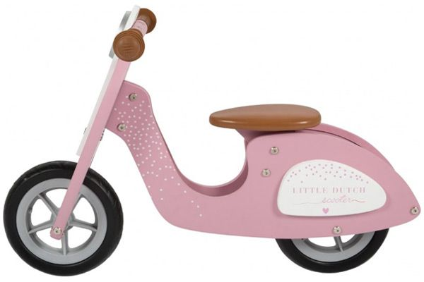 Roze scooter van het merk Little Dutch.