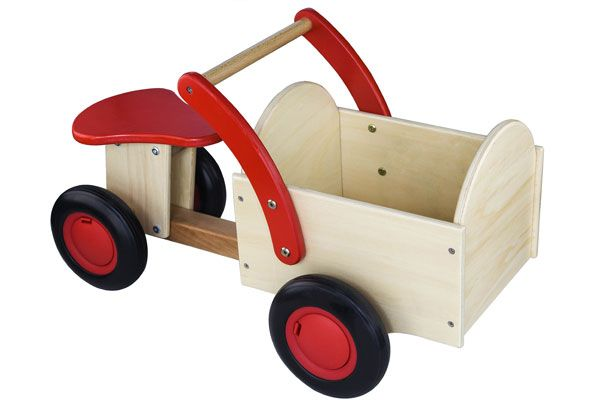 Classic bakfiets rood-blank