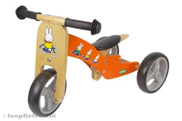 Smart bike 2 in 1 Nijntje oranje